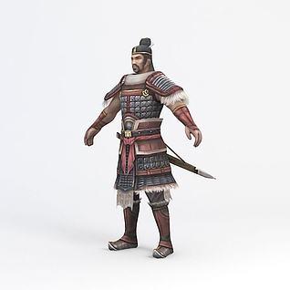 将军游戏角色3d模型
