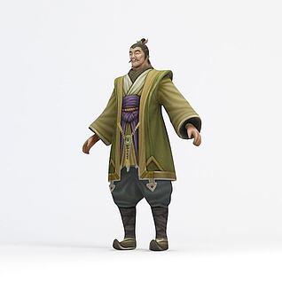 地主老爷游戏角色3d模型