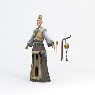 老爷游戏角色3d模型