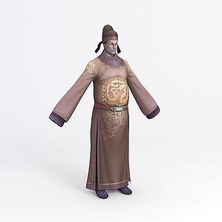官大人游戏角色3d模型