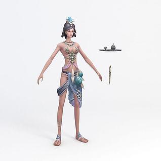 美女游戏角色3d模型