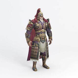 老将军游戏角色3d模型