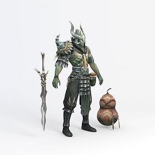 怪物游戏角色3d模型