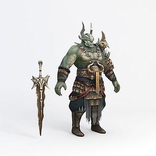 游戏怪物3d模型