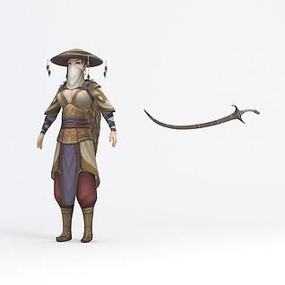 女侠客3d模型