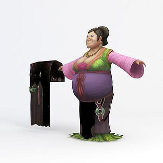 贵妇人3d模型