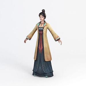 3d古代小姐模型