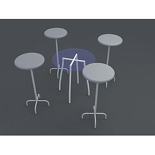 高脚桌3d模型