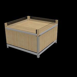 超市地堆柜模型