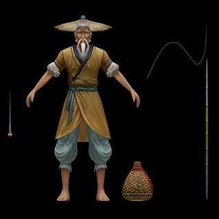 老人渔夫3d模型