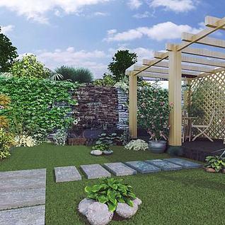庭院3d模型