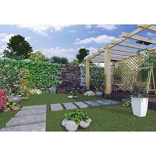 庭院3d模型3d模型