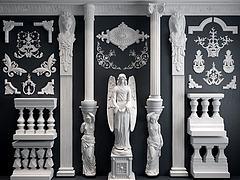 3D模型歐式雕花羅馬柱