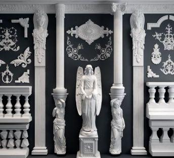 欧式雕花罗马柱