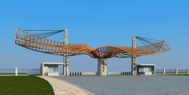 景区公园大门3d模型
