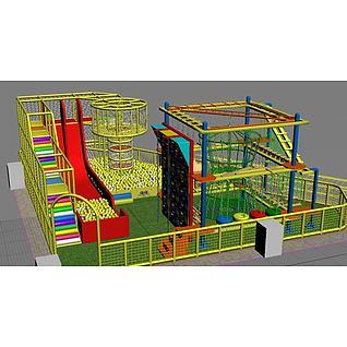 拓展设备淘气堡3d模型