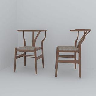 木椅子3d模型