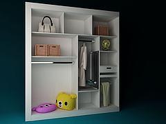无门衣柜模型3d模型