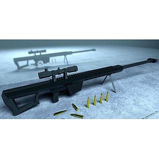巴雷特狙击枪3d模型