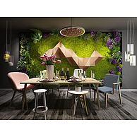 北欧餐桌椅吊灯组合3D模型3d模型