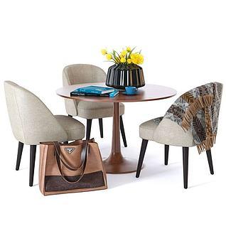 休闲桌椅3d模型