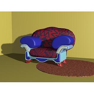 现代欧式沙发3d模型3d模型