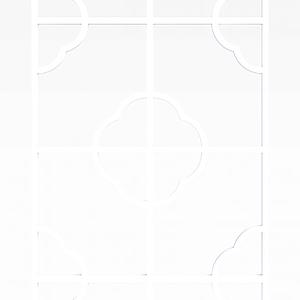 花格隔断模型