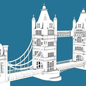 倫敦大橋3d模型