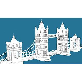 伦敦大桥3d模型3d模型