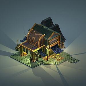 游戲場景房屋模型3d模型