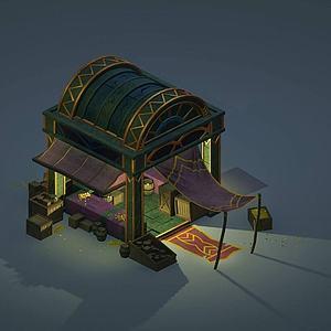3d游戲場景房屋模型