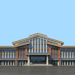 蒙族文化馆3d模型