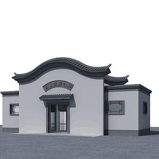 中式公厕3d模型