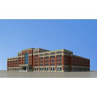 欧式教学楼主楼3d模型3d模型