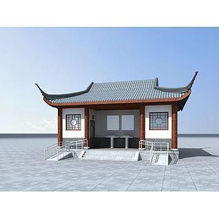 景区公共厕所3d模型