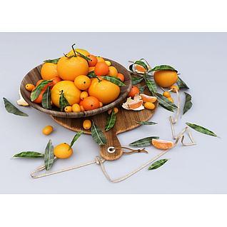 橘子3d模型