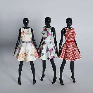 服装店模特3d模型