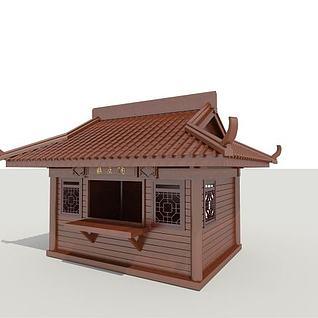 贩卖亭3d模型