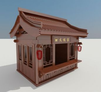 木屋贩卖亭