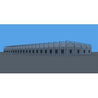 阳光棚3d模型