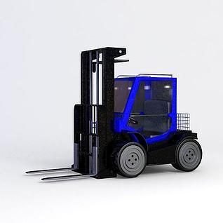 厂房叉车3d模型