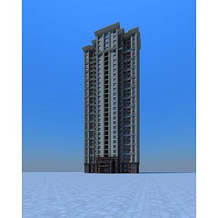 高层住宅楼3d模型