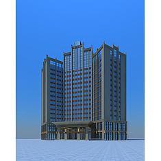 高层酒店3D模型3d模型