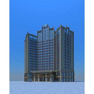 高层酒店3d模型