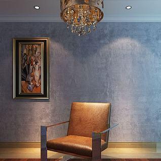 沙发椅吊灯组合3d模型
