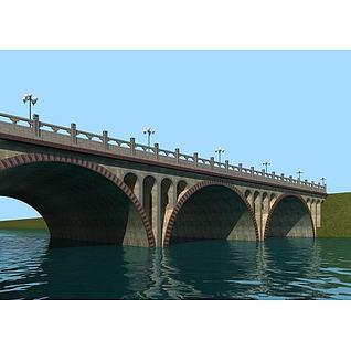 拱桥3d模型
