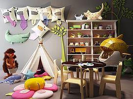 创意儿童桌椅帐篷组合模型