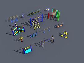 健身运动锻炼器材模型