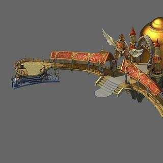 游戏场景城堡3d模型