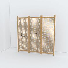 木质隔断3D模型3d模型